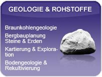 Leistungsspektrum der GEOmontan GmbH Freiberg im Bereich Geologie & Rohstoffe.