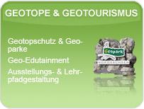 Leistungsspektrum der GEOmontan GmbH Freiberg im Bereich Geotope & Geotourismus.